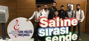 Türk müziği yarışmalarında Erzincan rüzgarı esti