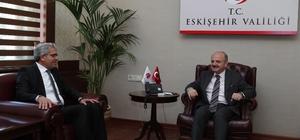 EOSB Yönetim Kurulu Vali Özdemir Çakacak'ı ziyaret etti Gemlik ve yeni yapılan Karasu limanına demiryolu bağlantısı talep ettiler
