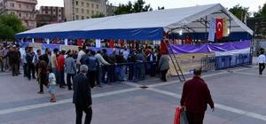 Vatandaşlar Ramazan ayını iftar çadırlarında karşıladı
