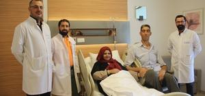 Dünyanın en uzun adamının eşi ameliyat oldu 2.51'lik Kösen'in eşi Eskişehir'de tüp mide ameliyatı geçirdi Sultan Kösen'in eşi taburcu edildi