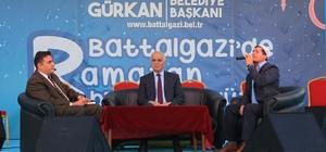 Başkan Gürkan ilk iftarını vatandaşlarla birlikte açtı