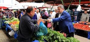 Başkan Palancıoğlu Perşembe Pazarı'nda