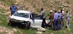 Gercüş'te otomobil takla attı: 1'i ağır 2 yaralı