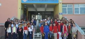 """Necip Fazıl Kısakürek ve Balaban İlkokulu'ndan anlamlı proje """"Gelin tanış olalım, ili bir kılalım"""" projesi kapsamında Osmanelili ve Bozüyüklü öğrenciler şehitlerimiz için dua etti"""