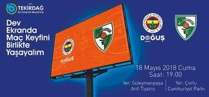 Fenerbahçe'nin maçı meydanlarda izlenecek