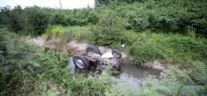 Sulama kanalına düşen traktörün sürücüsü öldü