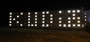 """KYK öğrencileri, yurt binalarını """"Kudüs"""" yazısıyla ışıklandırdı"""