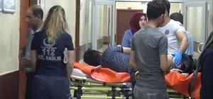 Bacağından bıçaklanan çocuk hastaneye kaldırıldı