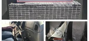 Jandarma, bir minibüste 3 bin 220 paket kaçak sigara ele geçirdi