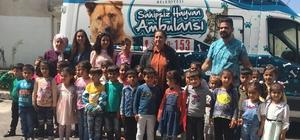 Minikler belediye hayvan bakım evini gezdi