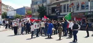 Edirne'de İsrail'e prtesto