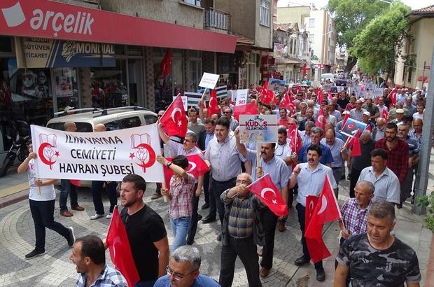 Havran'da İsrail ve Amerika protesto edildi