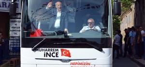 """CHP Cumhurbaşkanı adayı ve Yalova milletvekili Muharrem İnce Tekirdağ'da İnce seçim manifestosunu 19 Mayıs'ta Samsun'da açıklayacak CHP Cumhurbaşkanı adayı Muharrem İnce: """"Gazze'ye ben gideceğim"""" """"Abidik işler yapmayın"""""""