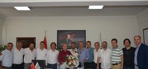 Başkan Özakcan'a teşekkür ziyareti