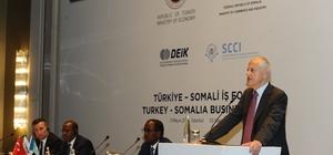 """Yırcalı Türkiye - Somali Formuna başkanlık yaptı Yırcalı: """"Somali'nin kalkınmasına katkı sağlıyoruz"""""""