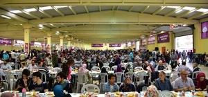 Bilecik'te yüzlerce vatandaş aynı sofrada iftar yaptı