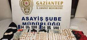 Maskeli ve silahlı hırsızlar kuyumcu dükkanını bir buçuk dakikada boşalttı Polis kaçan hırsızların izini araçtan buldu Maske ve silahlarla birlikte 1 kilo 250 gram altın, 2 bin 999 dolar ve 4 bin 350 lira ele geçirildi