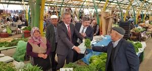Kaymakam Muhammet Önder ve Başkan Akçadurak, pazarcı esnafıyla buluştu