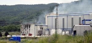 Kimyasal madde üreten fabrikanın ambarı yandı
