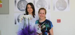 Öğrencilerden temel sanat eğitimi sergisi
