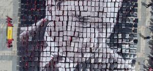 Tekirdağ'da bin 59 öğrenciden Atatürk ve Türk bayrağı koreografisi