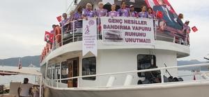 19 Mayıs kutlamalarına Bandırma Vapuru'yla geldiler