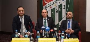Bursaspor başkan adayından 50 milyon Euro'luk destek açıklaması