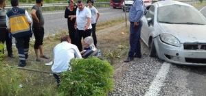 Otomobil takla attı4 kişi yaralandı