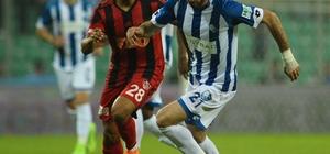 Spor Toto 1. Lig Play-off finali: Gazişehir Gaziantep: 0 - BB Erzurumspor: 0 (İlk yarı sonucu)