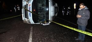 Ardahan'da otobüs devrildi: 1 yaralı