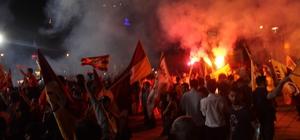 Galatasaray'ın şampiyonluğu Kayseri'de de coşkuyla kutlandı