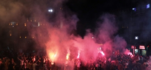 Galatasaray'ın şampiyonluğu Malatya'da kutlandı