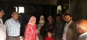 Efeler AK Parti, evleri yanan Kaçmaz ailesine geçmiş olsun ziyareti
