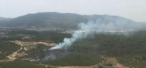 İzmir Menderes'te orman yangını İzmir'in Menderes ilçesindeki yangında yaklaşık 2 dekar ormanlık alan zarar gördü