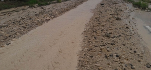 Sivas'ta sel nedeniyle yol trafiğe kapandı
