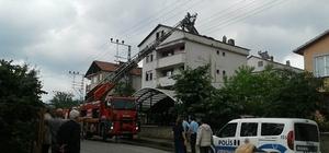 Yenice'de çatı yangını korkuttu