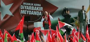"""Başbakan Binali Yıldırım Diyarbakır'da (1) Diyarbakırlılara hitap eden Başbakan Yıldırım: """"Selahattin Eyyübi'nin, Alparsan'ın, Fatih Sultan Mehmed'in intikamını almak istiyorlar"""" """"Ama buna Diyarbakır izin vermez"""" """"Bizler zalimlere, katillere, ruhlarını düşmanlara satan alçaklara boyun eğmeyiz"""""""