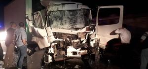 Önündeki kamyona çarptı: 1 yaralı