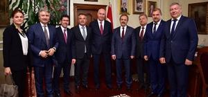"""Başkan şahin, Rus heyeti ağırladı Başkan Şahin: """"Karşılıklı işbirliği daha da güçlenmeli"""""""