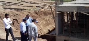 Müdür Tevke, okul inşaatlarını inceledi