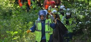 Temiz çevre için izmaritler toplandı