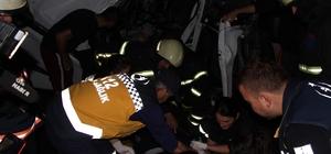 Kazada hurdaya dönen tır kabininden sağ çıktı TEM Otoyolun 2 tır çarpıştı 1 kişi yaralandı