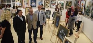Liseden AVM'de resim sergisi Köksal Ersayın Anadolu Lisesi Piazza'da sergi açtı
