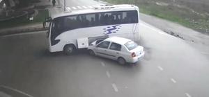 Samsun'da trafik kazaları şehir polis kamerasında