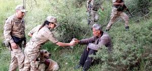 5 gündür kayıp olan vatandaşı arama köpeği 'Balım' buldu