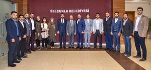 AK Parti Selçuklu Teşkilatından Başkan Pekyatırmacı'ya hayırlı olsun ziyareti