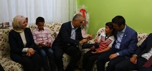 Başkan Aydın, Kılıç ve Çığır ailelerin evine misafir oldu