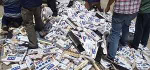 Tırın dorsesinin altından 18 bin 500 paket kaçak sigara çıktı