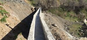 Kulp'un eski sulama kanalları yenilendi