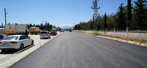 OSB yolunda asfalt çalışmaları sürdürülüyor
